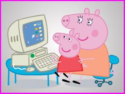Dibujos Animados De Pepa Pig computadora
