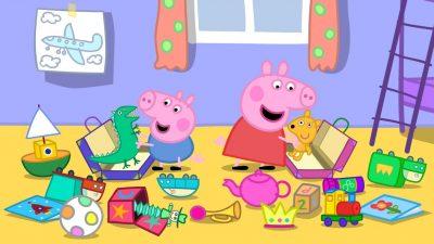 Dibujos Animados De Peppa Pig En Español jugando