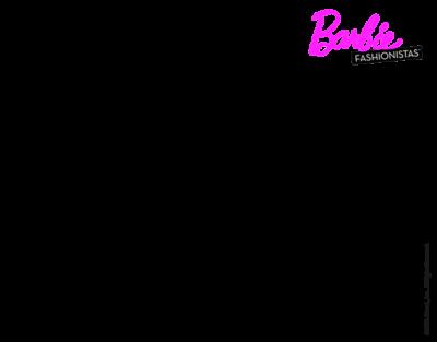 Dibujos De Barbie Para Imprimir cabello