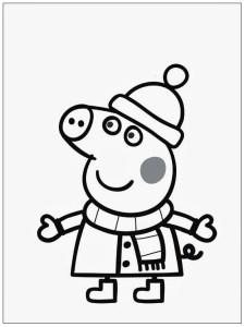 Dibujos De Peppa Pig En Español Gratis abrigo