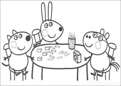 Dibujos De Peppa Pig En Español Gratis amigos