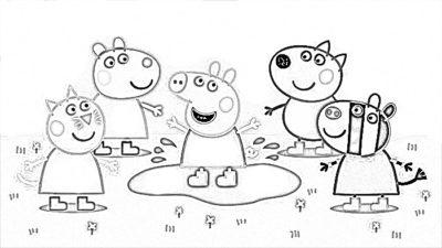 Dibujos Para Imprimir De Peppa Pig amigos