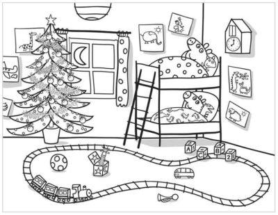 Dibujos Para Imprimir De Peppa Pig habitacion