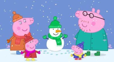Dibujos Peppa Pig Para Imprimir nieve