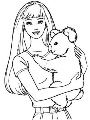 Imágenes De Barbie Para Pintar koala