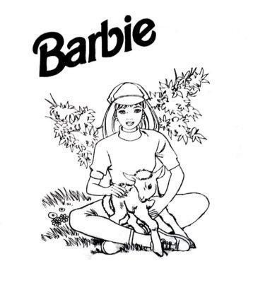 imagenes de barbie para colorear oveja