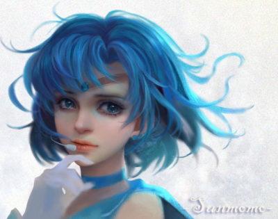 imagenes de muñecas hermosas azul
