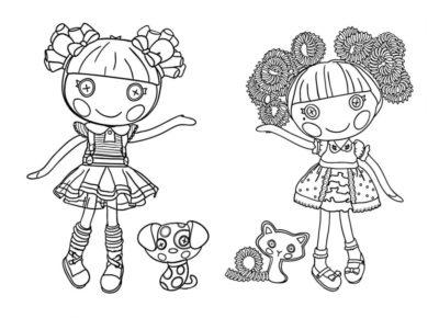 imagenes de muñecas para colorear dos