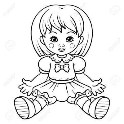 imagenes de muñecas para colorear nena