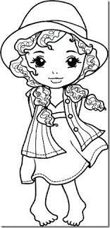 imagenes de una muñeca para colorear sombrero