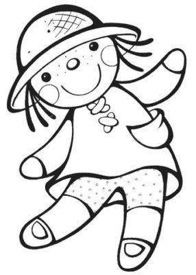 imagenes de una muñeca para colorear trapo
