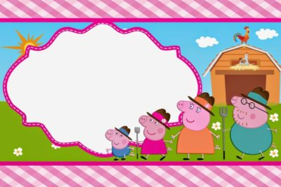 tarjetas de cumpleaños de peppa pig familia