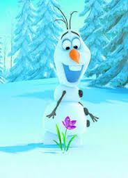 Imágenes de un muñeco de nieve chistoso con flores