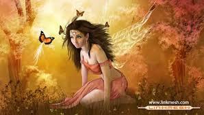 Imagenes de hadas hermosas con mariposas