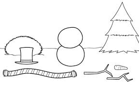 Muñecos de nieve para dibujar y armar