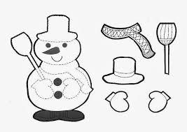 Muñecos de nieve para dibujar y decorar