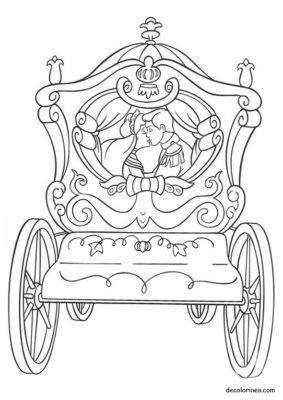 dibujos de cenicienta carruaje
