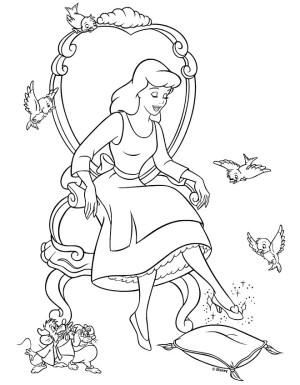 dibujos de cenicienta zapatilla