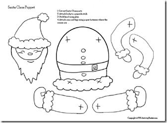 muñecos de navidad moldes gratis partes
