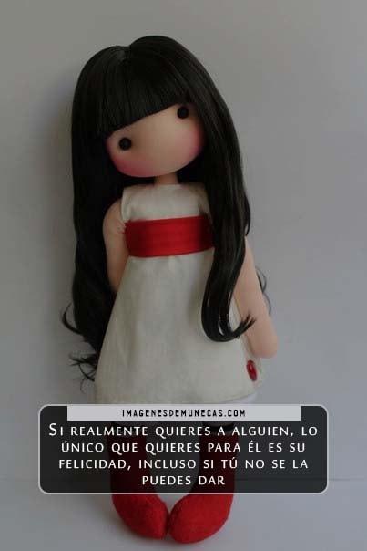 imagenes muñecas con frases de amor
