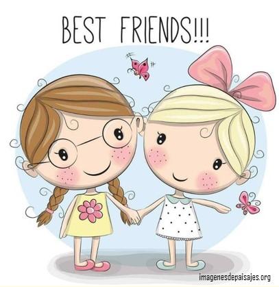 imágenes de muñecas bonitas con frases de amistad