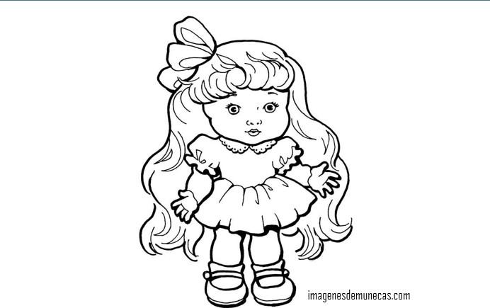 Imágenes de muñecas bonitas para colorear