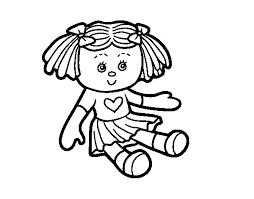 imágenes de muñecas para colorear