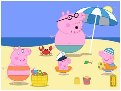 Dibujos Animados De Peppa Pig En Español playa