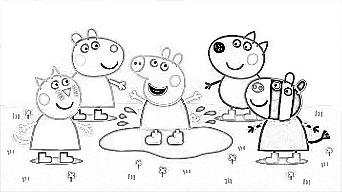 Dibujos Para Imprimir De Peppa Pig Y Sus Amigos Imágenes De