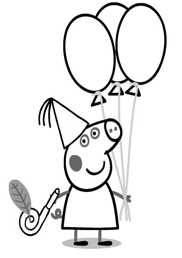 dibujos para imprimir de peppa pig y sus amigos  imágenes