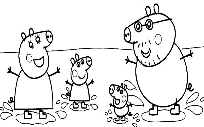 Imagenes Para Colorear De Español: Dibujos De Peppa Pig En Español Gratis Para Colorear
