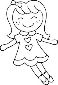 imagenes de muñecas para colorear niñas