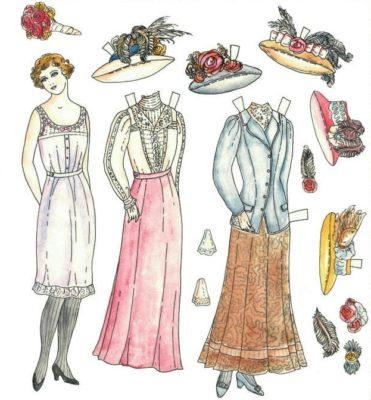 imagenes de muñecas para vestir elegante