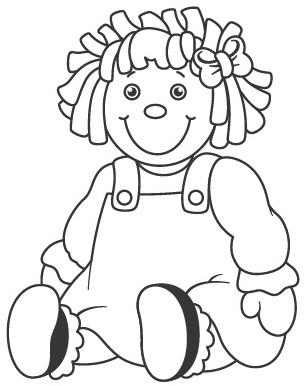imagenes de una muñeca para colorear niña