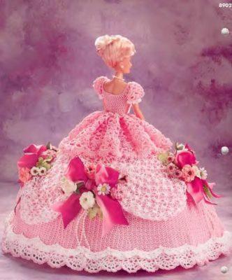 imagenes de vestidos de muñecas rosa