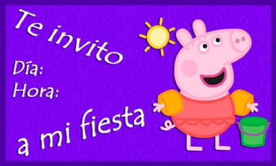 tarjetas de cumpleaños de peppa pig invitacion