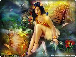 Imagenes de hadas hermosas con flores