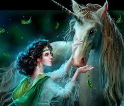 Imagenes de hadas hermosas con unicornios