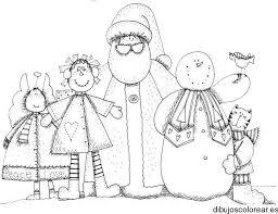Muñecos de nieve para dibujar de la familia