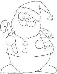 Muñecos de nieve para dibujar de papa noel