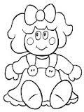 imagenes de juguetes para colorear muñecas