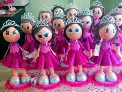 muñecas quinceañeras en foami