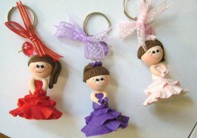 muñecas quinceañeras en masa flexible