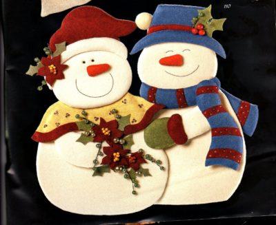muñecos de navidad moldes gratis terminados