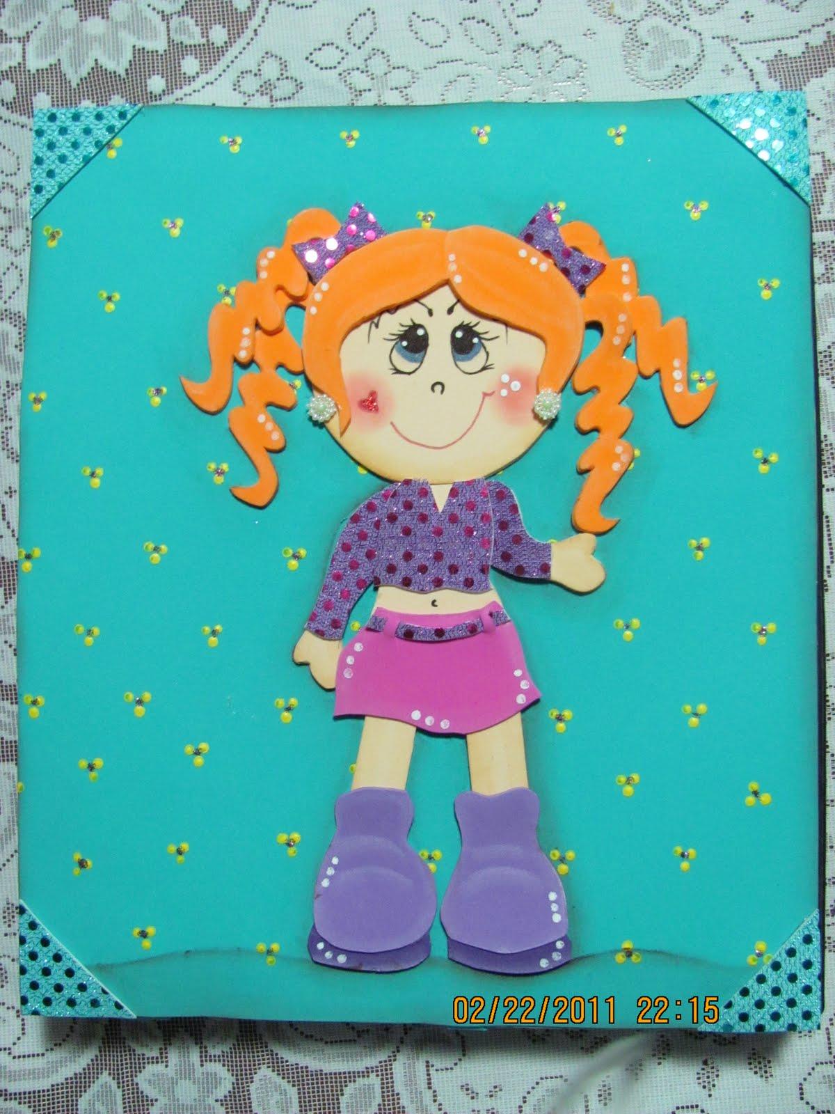 hermosas imágenes de muñecas de foami para carpetas imágenes de