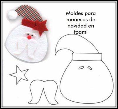 moldes-para-hacer-munecos-de-navidad-en-foami