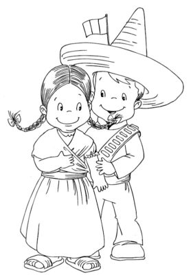 munecas-tipicas-mexicanas-colorear