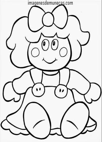 imágenes de muñecas bonitas para pintar