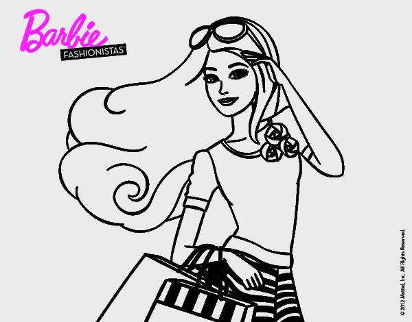 barbie con bolsaspara pintar