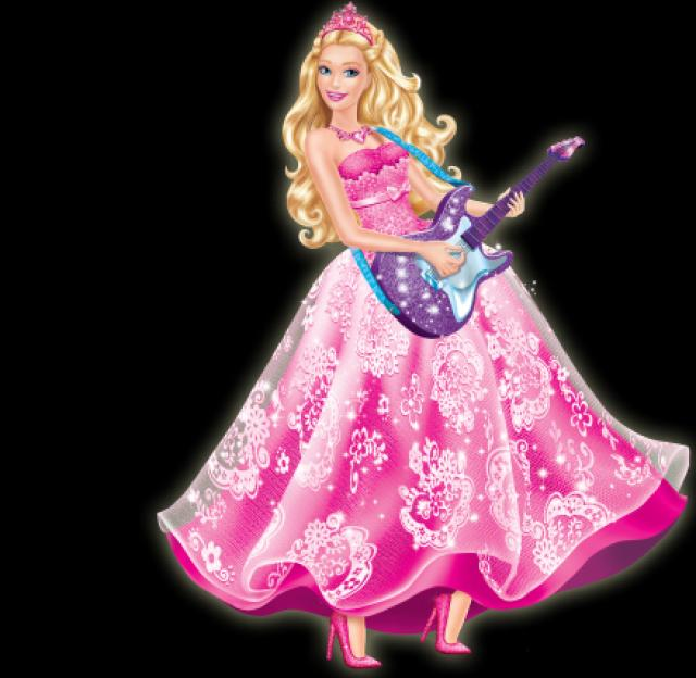 barbie princesa guitarra